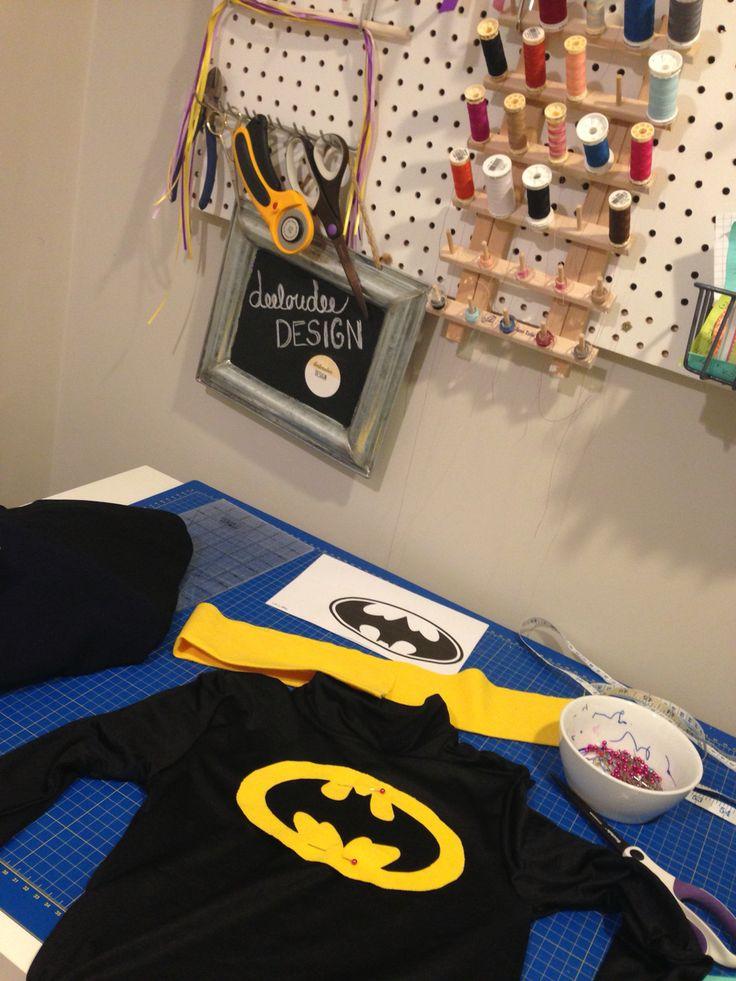 DIY Batman costume in the making