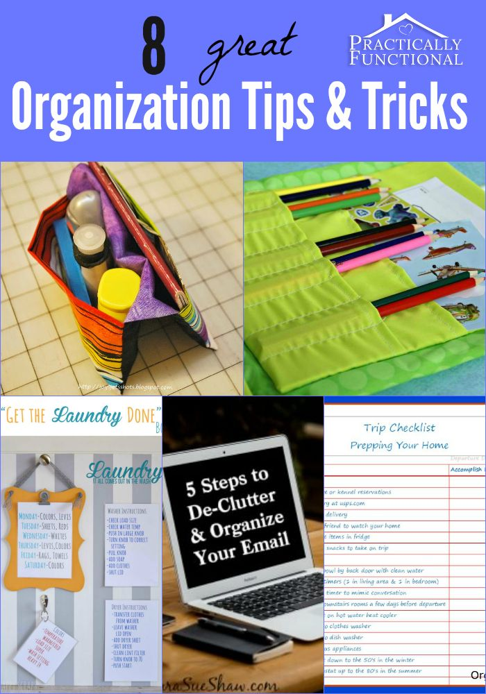 If you need a little more order in your life, you are really going to benefit from these 8 great organization tips and tricks!