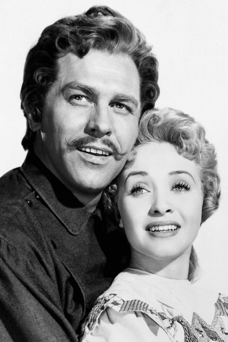 "Howard Keel y Jane Powell en la maravillosa ""Siete novias para siete hermanos"", 1954"