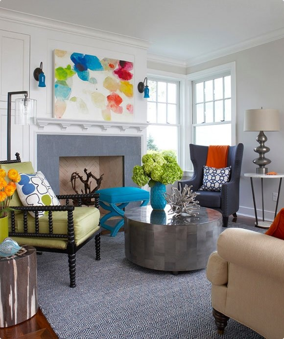 to live beautifully | eclectic living rooms