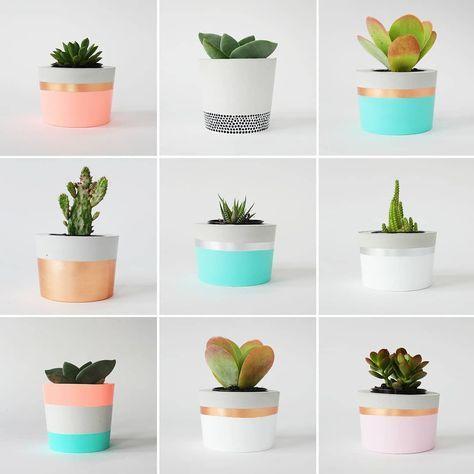 """1,312 Likes, 9 Comments - DIY HOME - Decor e DIY (@diyhomebr) on Instagram: """"Inspiração da @coralandherb pra produzir os vasinhos de concreto para suas suculentas. Fonte:…"""""""