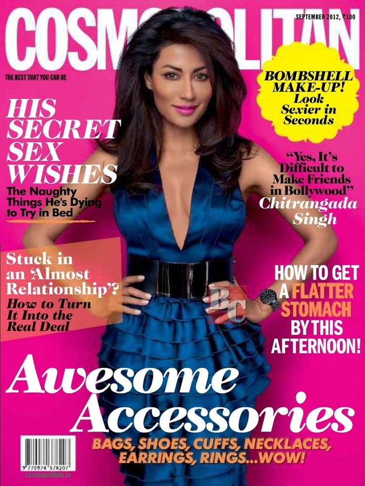 Chitrangada Singh on The Cover of Cosmopolitan India September 2012 | Bollywood Cleavage