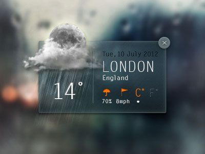 Dribbble - Weather Widget by Angelo Semeraro