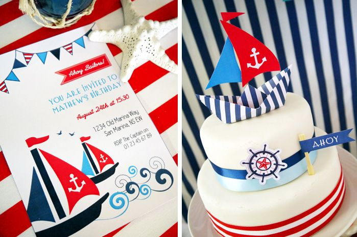 Nautical Party: Birthday Parties, Red White Blue, 1St Birthday, Parties Ideas, Birds Parties, Nautical Theme, Sailboats Cupcakes, Nautical Party'S, Nautical Parties