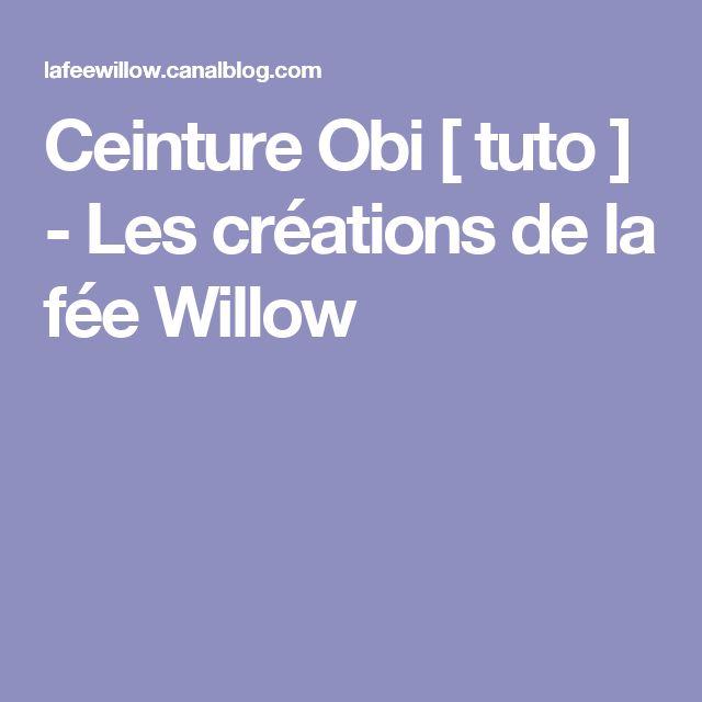 Ceinture Obi [ tuto ] - Les créations de la fée Willow