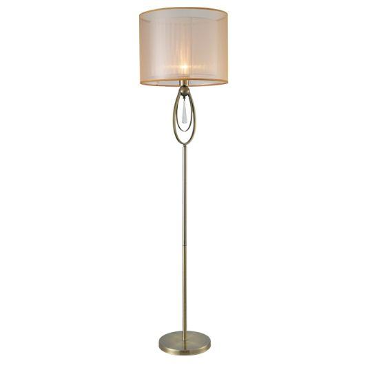 Φωτιστικό #δαπέδου από #μέταλλο, με υφασμάτινο καπέλο. Για ακόμα μεγαλύτερη οικονομία στην κατανάλωση ενέργειας προτείνουμε να επιλέξετε #λαμπτήρες LED: http://kourtakis-lighting.gr/35-led-lampes-E27