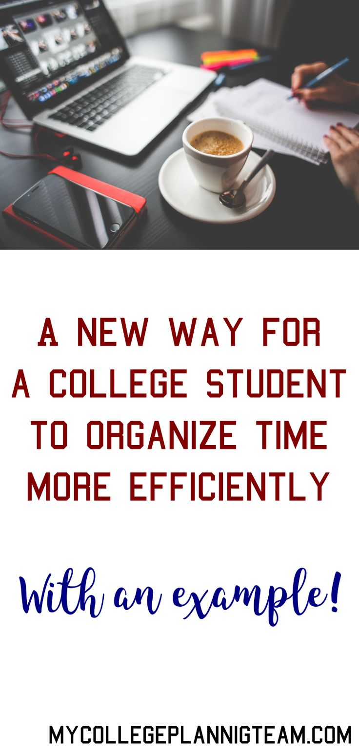A new way for college students to organize their time  #collegeplanning #collegeorganization #timemanagement #collegetimemanagement