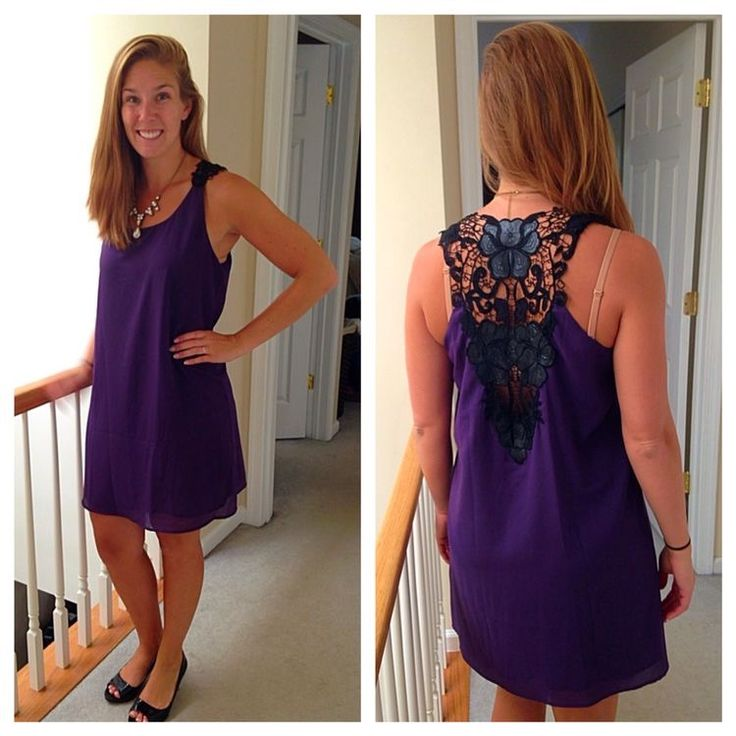 I absolutely love this Stitch Fix dress! The color is gorgeous and the lace back is sexy for date night!