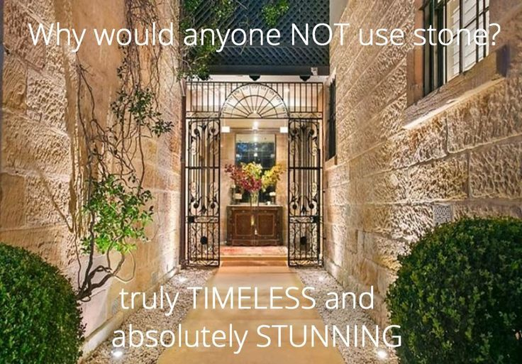 The PRICELESS Beauty of REAL Stone - STUNNING and truly TIMELESS. A great Investment.