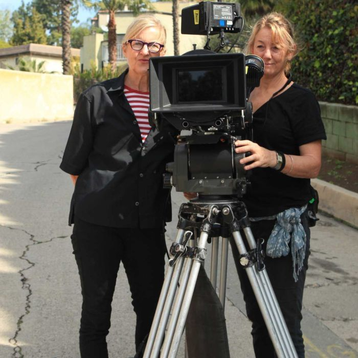 Australian Monica Davidson discusses #women and #film (audio). The image is Gillian Armstrong and cinematographer Anna Howard.