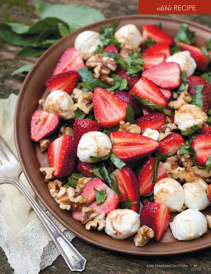 strawberry caprese salad by erin gleeson