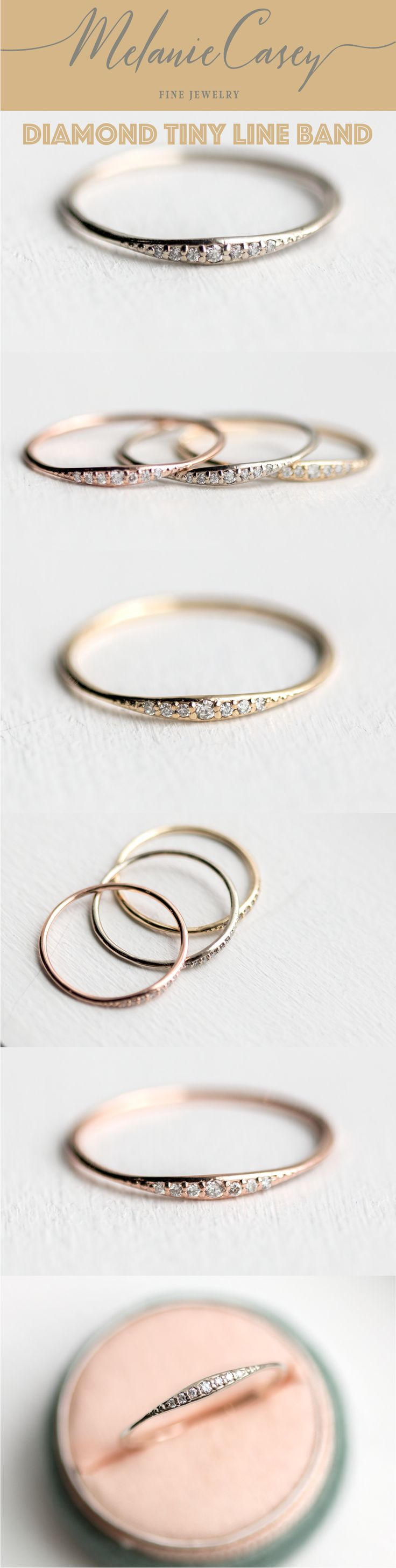wedding ring, antique ring, vintage ring, whimsy ring, whimsical ring, dainty ring, feminine ring, elegant ring, gold ring, white diamond ring, delicate ring, handmade ring, stunning ring, stacking ring, Melanie Casey ring, perfect ring, vintage jewelry, antique ring, vintage inspired ring, antique inspired ring, fairytale ring, magical ring, handmade jewelry, jewelry made in the USA, made with love, diamond line, diamond band, rose gold band, diamond tiny line band, wedding band