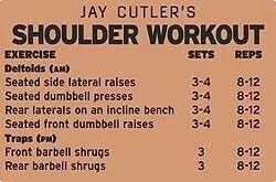 Jay Cutler Shoulder workout