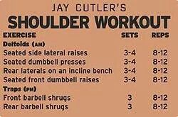 Jay Cutler Shoulder workout