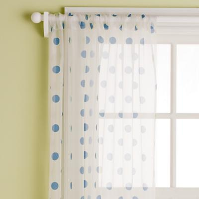 These are the polka dot curtains...the bedding set has light blue polka dots, too.