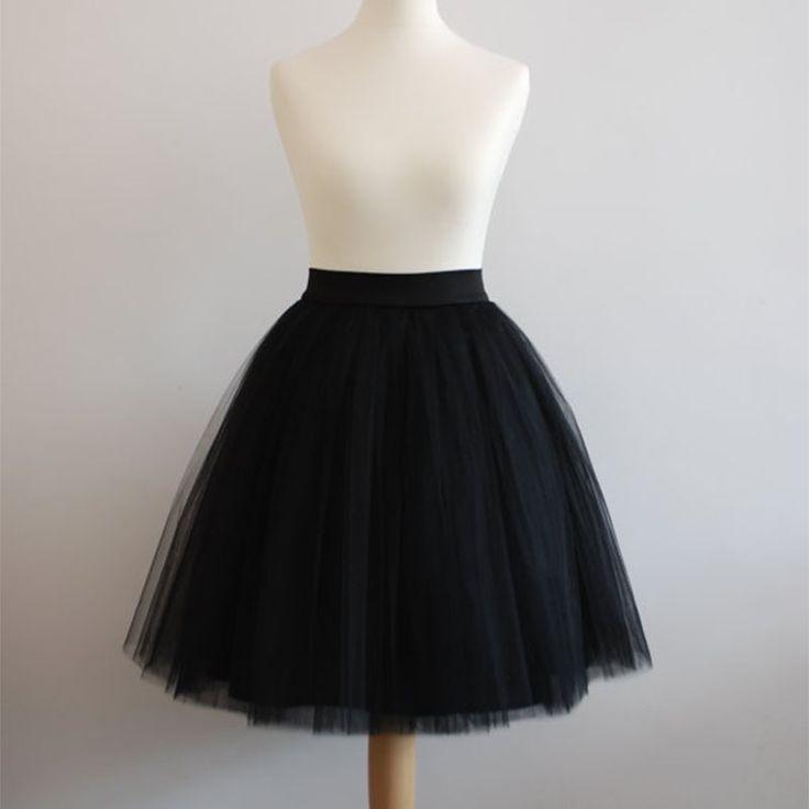 4 LayersSwiss Soft Tulle Skirt  With Hidden Zipper Band Tutu  Women Summer Style High Waisted Midi Skirts Knee Length Plus Size
