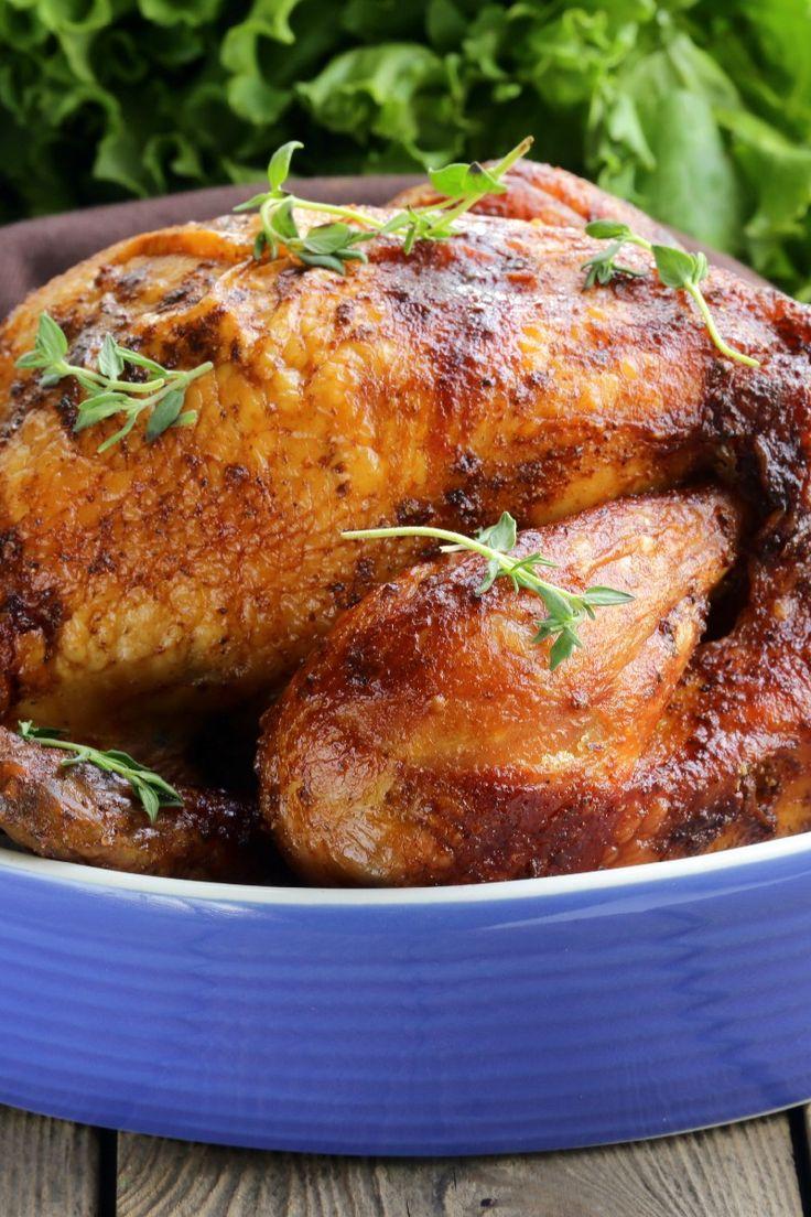 Roast Sticky Chicken Rotisserie Style | KitchMe