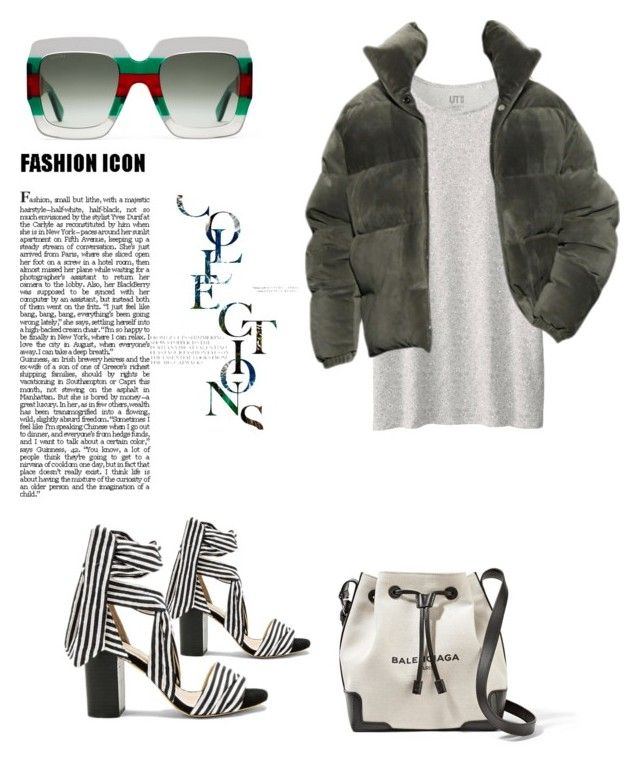 """""""Mellowed Out"""" by mangomai on Polyvore featuring Uniqlo, Raye, Balenciaga and Gucci"""
