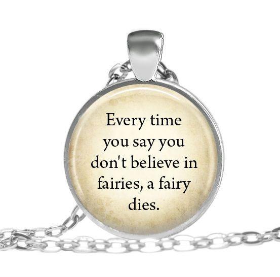 Gliederketten - Halsketten schmuck Peter Pan zitat - ein Designerstück von MadamebutterflyMeagan bei DaWanda