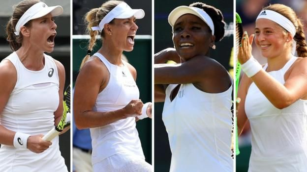 Watch the five best shots as Johanna Konta beats Maria Sakkari     Wimbledon 2017 on the BBC     Venue: All England Club Dates: 3-16 July Starts: 11:30 BST   Live: Coverage across BBC TV, BBC Radio and BBC Sport website with further coverage on Red Button, Connected TVs and app. Full times...
