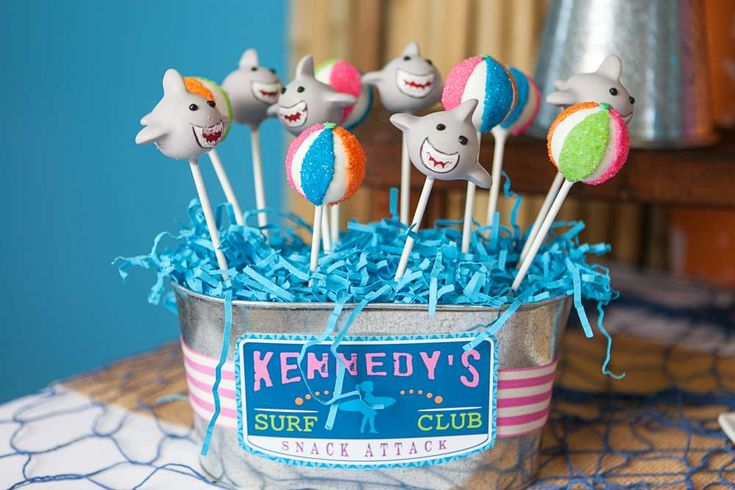Cool cake pops at a girly surfing birthday party! See more party ideas at CatchMyParty.com!