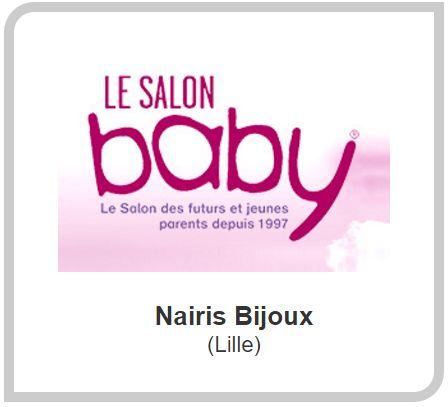 Retrouvez Naïris Bijoux sur le salon Baby de Lille ce week-end ! Vous pourrez personnaliser, sur place, votre bola de grossesse et votre bracelet d'allaitement !
