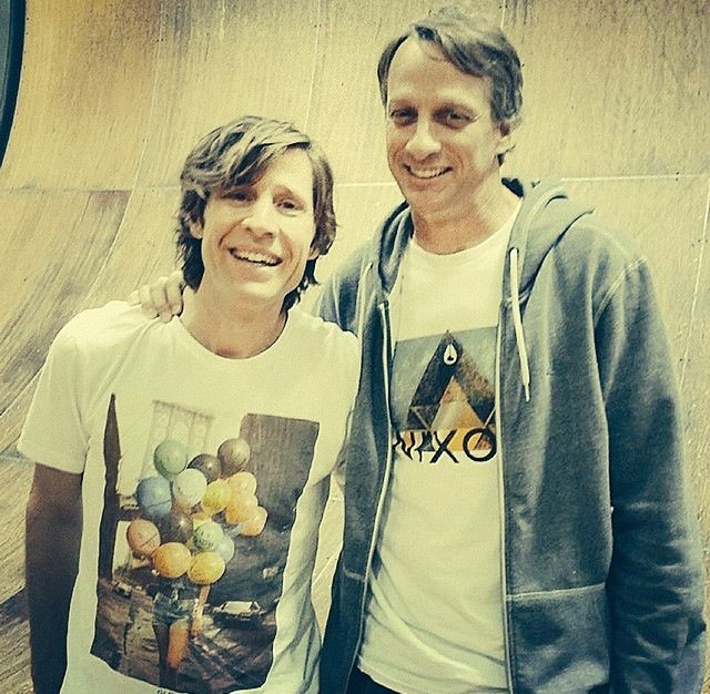 Skate legends Rodney Mullen and Tony Hawk