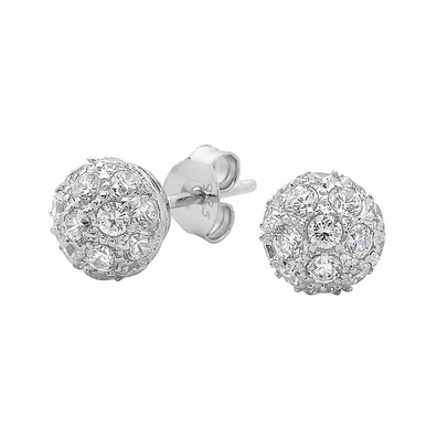 Silver and Some - Georgini Earrings, CZ Ball Studs $119.00