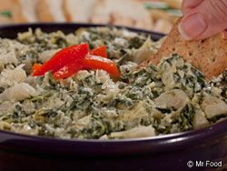"""Looking for that homemade dip recipe that'll """"wow"""" your group? Well our easy diabetic recipe for Parmesan Spinach Dip is both versatile and tasty! Pair it with bagel slices, pita chips, veggies, and more."""