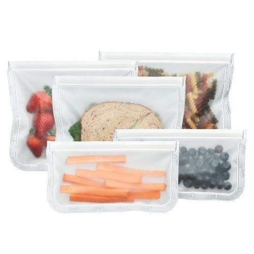 Reusable snack and lunch bags to store your all your goodies in when you're on the go.
