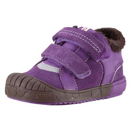 """Reima Ботинки  для девочки Reima  — 2159р. --------------------- Предлагаем вашим малышам прекрасную осеннюю обувь на подкладке из тёплого текстильного меха! Верх этих стильных кроссовок выполнен из прочной замши и простого в уходе синтетического материала. Эта обувь имеет тёплые съёмные стельки с удобным рисунком Happy Fit, который помогает правильно определить размер и измерить быстро растущую ножку ребёнка. Благодаря двойным ремешкам на """"липучках"""" кроссовки легко обуваются и регулируются…"""
