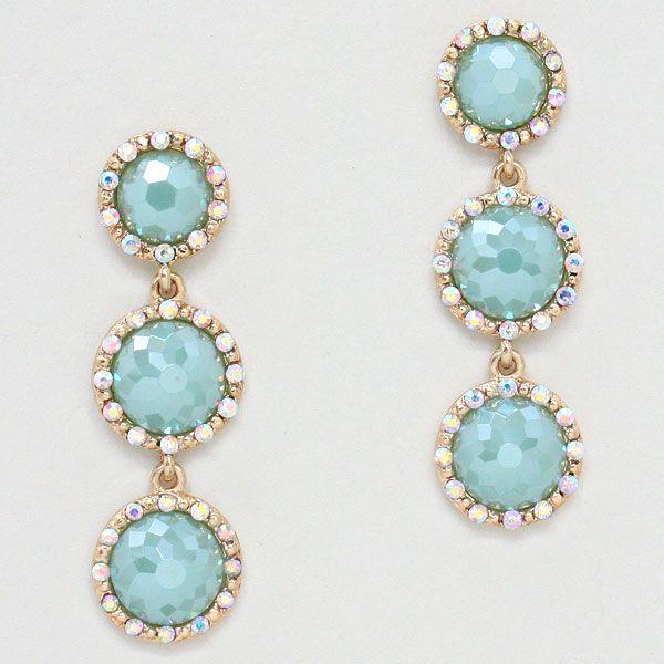 Ovi Earrings in Aspen Blue on Emma Stine Limited