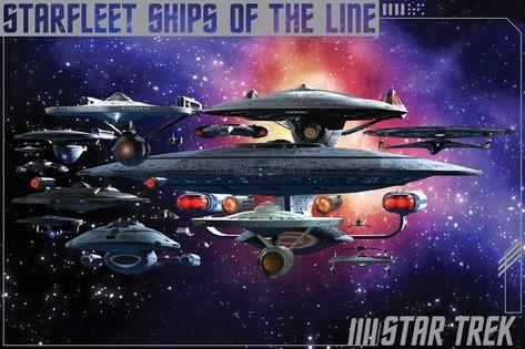 Star Trek Starfleet Ships Of The Line Wall Poster Art Print