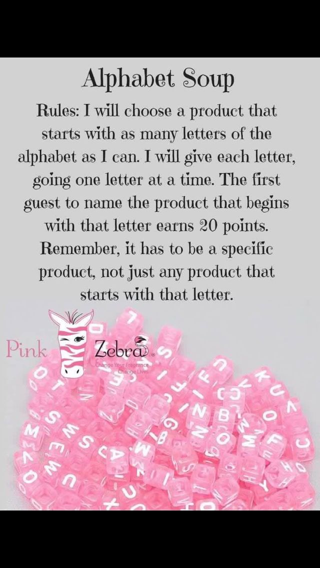Pink zebra party games