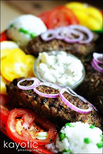 Bifteki (Ground Beef stuffed with Feta Cheese)