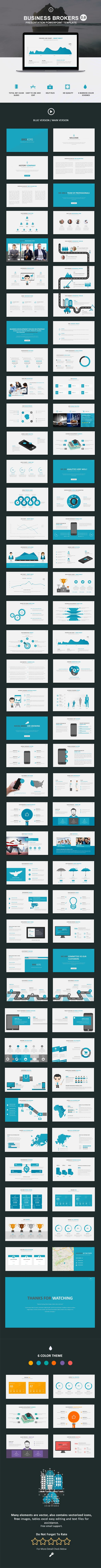 Business Brokers 2.0 Powerpoint Template  #purple #design • Click here to download ! http://graphicriver.net/item/business-brokers-20-powerpoint-template/16106616?ref=pxcr