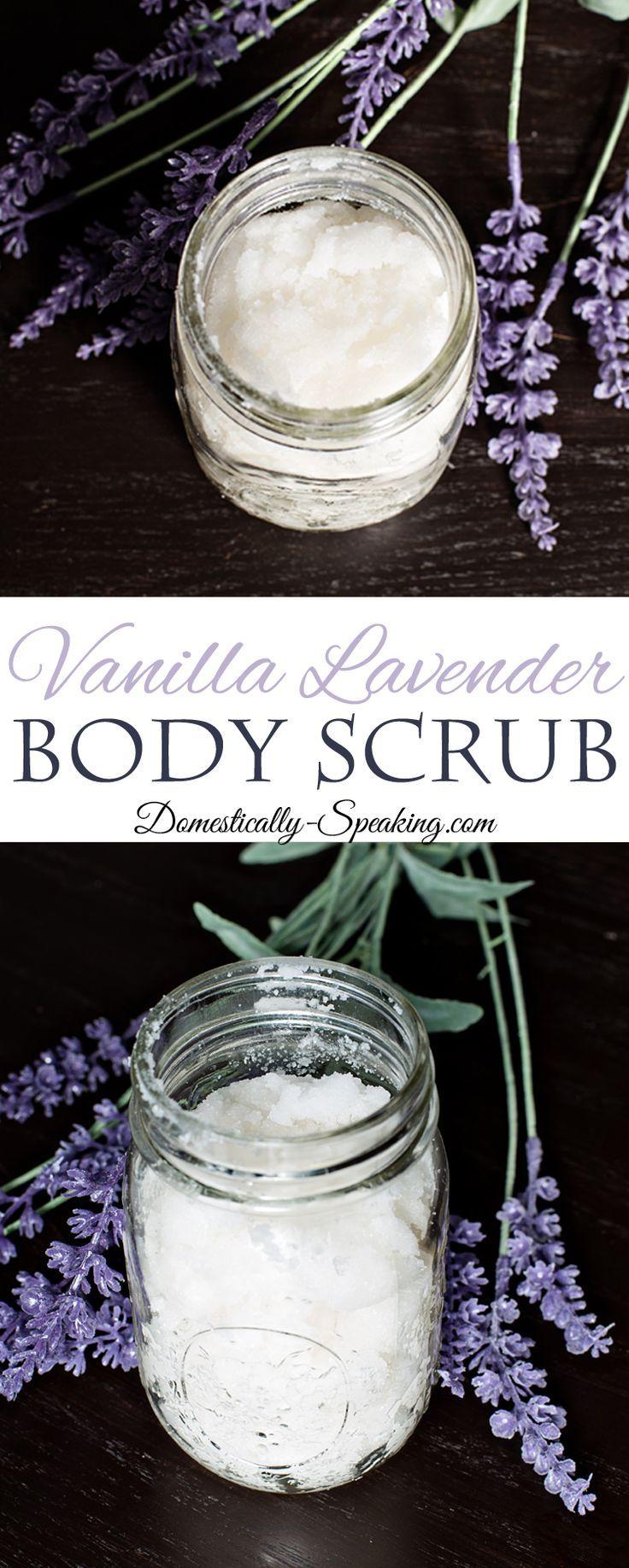 Vanilla Lavender Body Scrub a Homemade Body Scrub Recipe