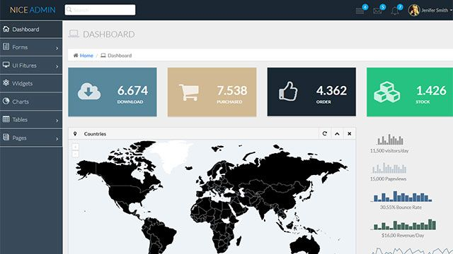 Nice Admin -Free bootstrap admin HTML template | BootstrapTaste