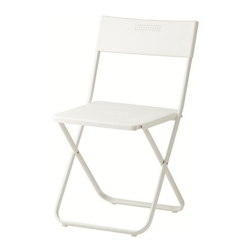 IKEA - FEJAN, Folding chair, white, , Perfect for your balcony or other small spaces as the chair is easy to fold up.