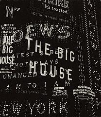 Times Square / Broadway Composition, Walker Evans, 1930: Composition Getty, Time Squares, York Cities, Times Square, Getty Museums, Theatres Signs, Broadway Theatres, 1930 Signs Of The Tim, Broadway Composition