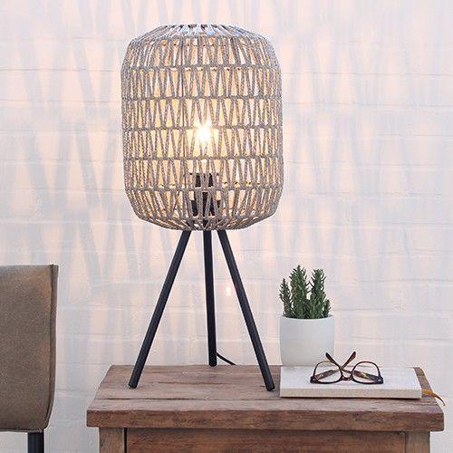 O5 Tafellamp gehaakt naturel | LOODS 5