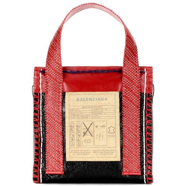 Balenciaga Scaffold Leather Shopper (€2.045) ❤ liked on Polyvore featuring bags, handbags, tote bags, red, shopping bag, leather tote, leather tote shopper, red tote and leather handbags