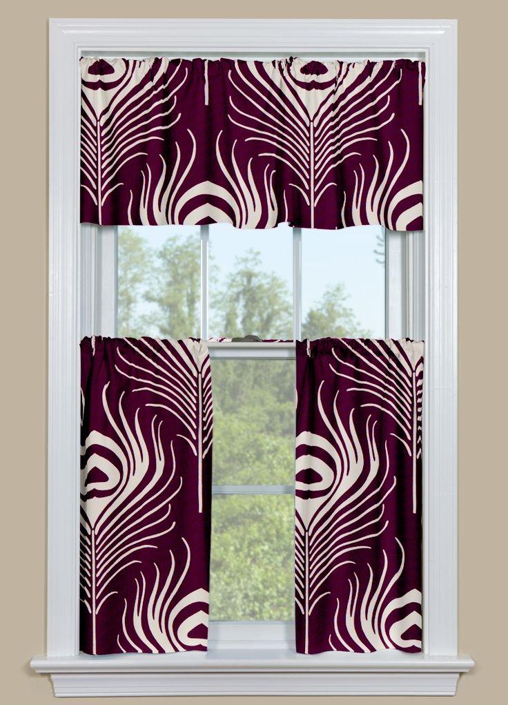 Window Kitchen Curtain In Thomas Paul Plume   Plum. Purple Kitchen CurtainsRetro  ...