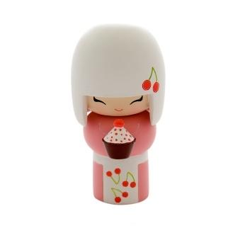 Cupcake + Kokeshi doll = love!