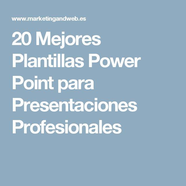 20 Mejores Plantillas Power Point para Presentaciones Profesionales