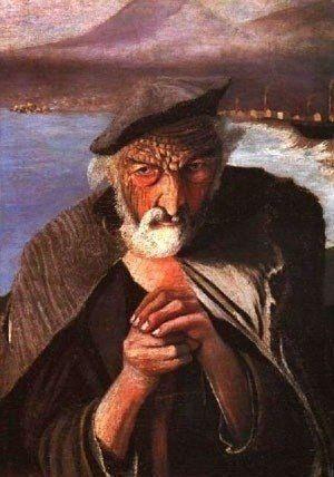 Tivadar  Csontvary Kosztka    The Old Fisherman (1902)