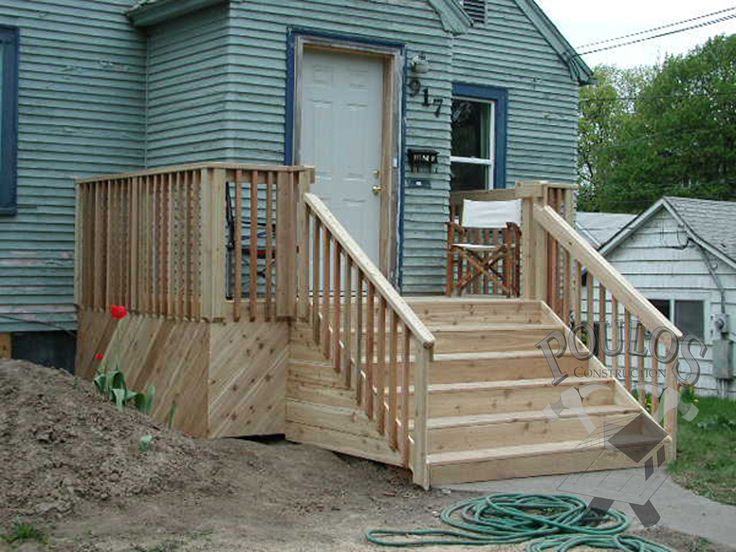 17 best images about simple front porches on pinterest for Wooden porches for mobile homes
