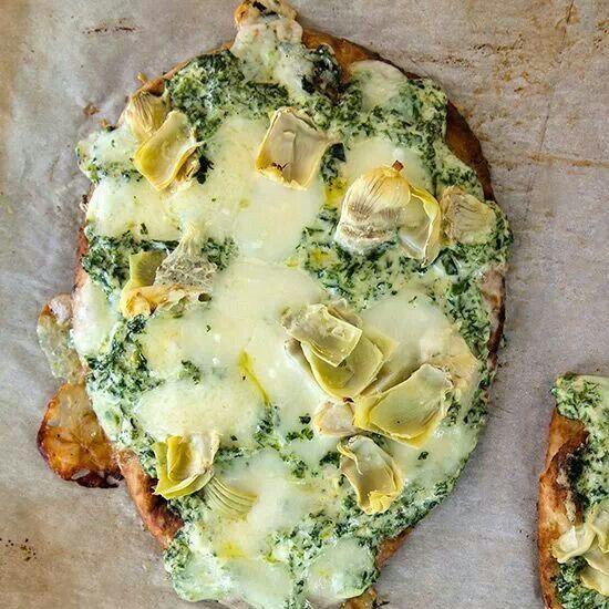 Kale artichoke flatbread