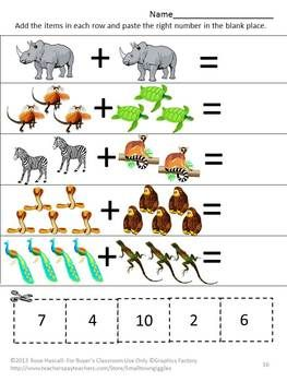 Let's Go To The Zoo Pre-K,K and Special Education-Children of all ages love going to the zoo. You can bring the zoo to them with this packet of 17 cut and paste worksheets
