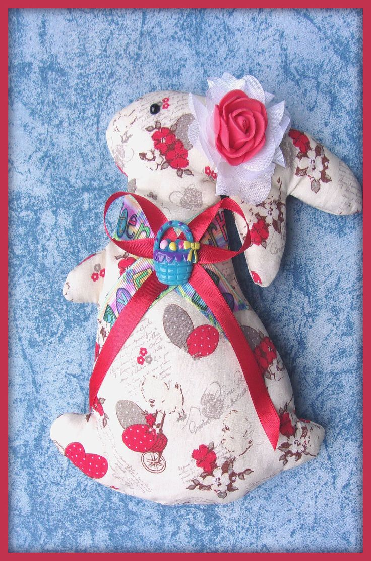Lapin de Pâques en tissu oeufs poussins avec noeuds N°13 : Jeux, peluches, doudous par orkan28